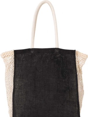 Kimood Tašky KI0281 SHOPPING BAG WITH MESH GUSSET
