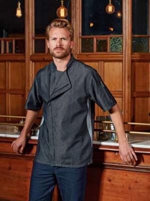 Premier Firemní oděvy PR906 CHEF'S ZIP-CLOSE SHORT SLEEVE JACKET